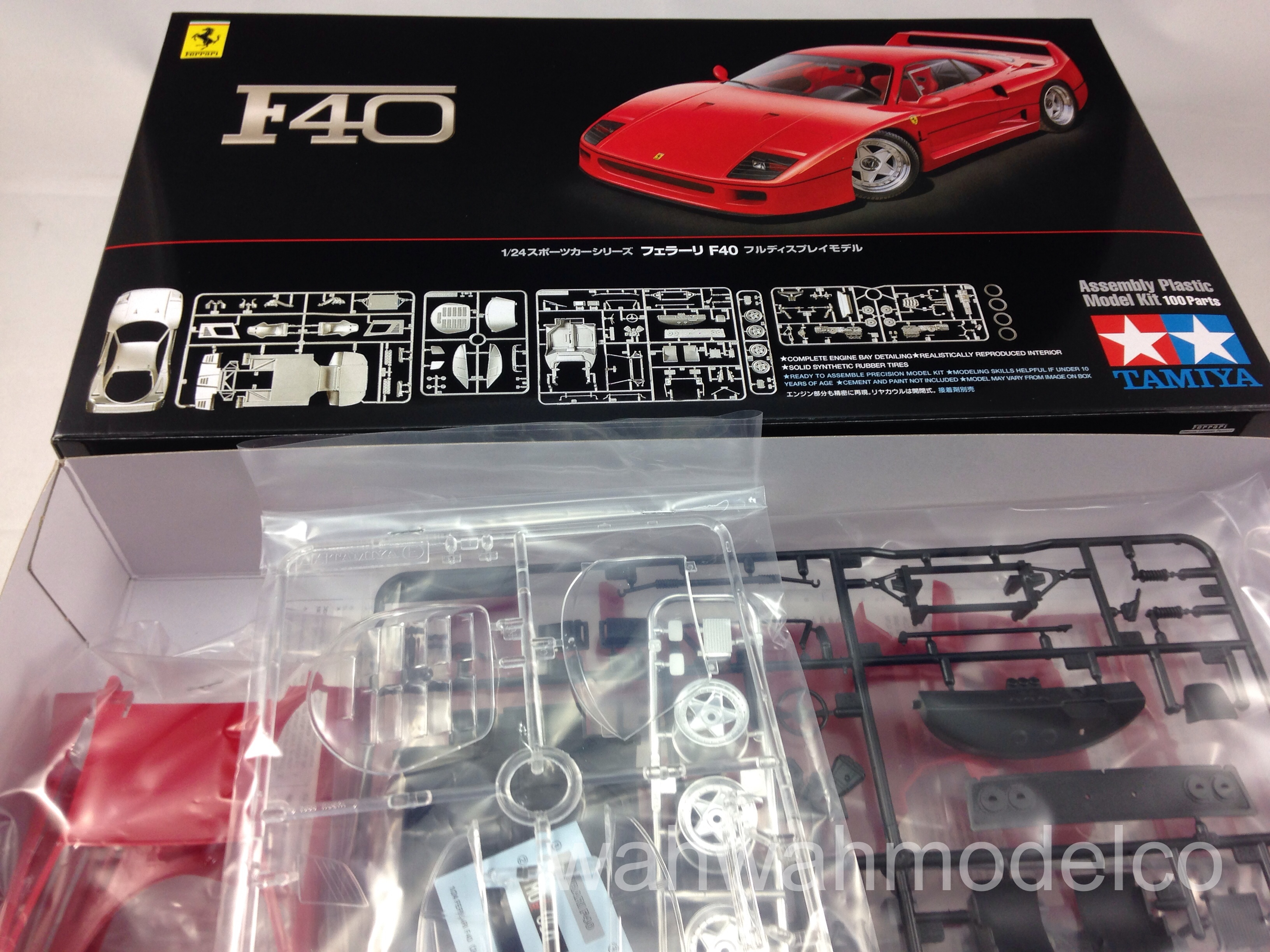 TAMIYA 24295 Ferrari F40 1:24 Car Model Kit