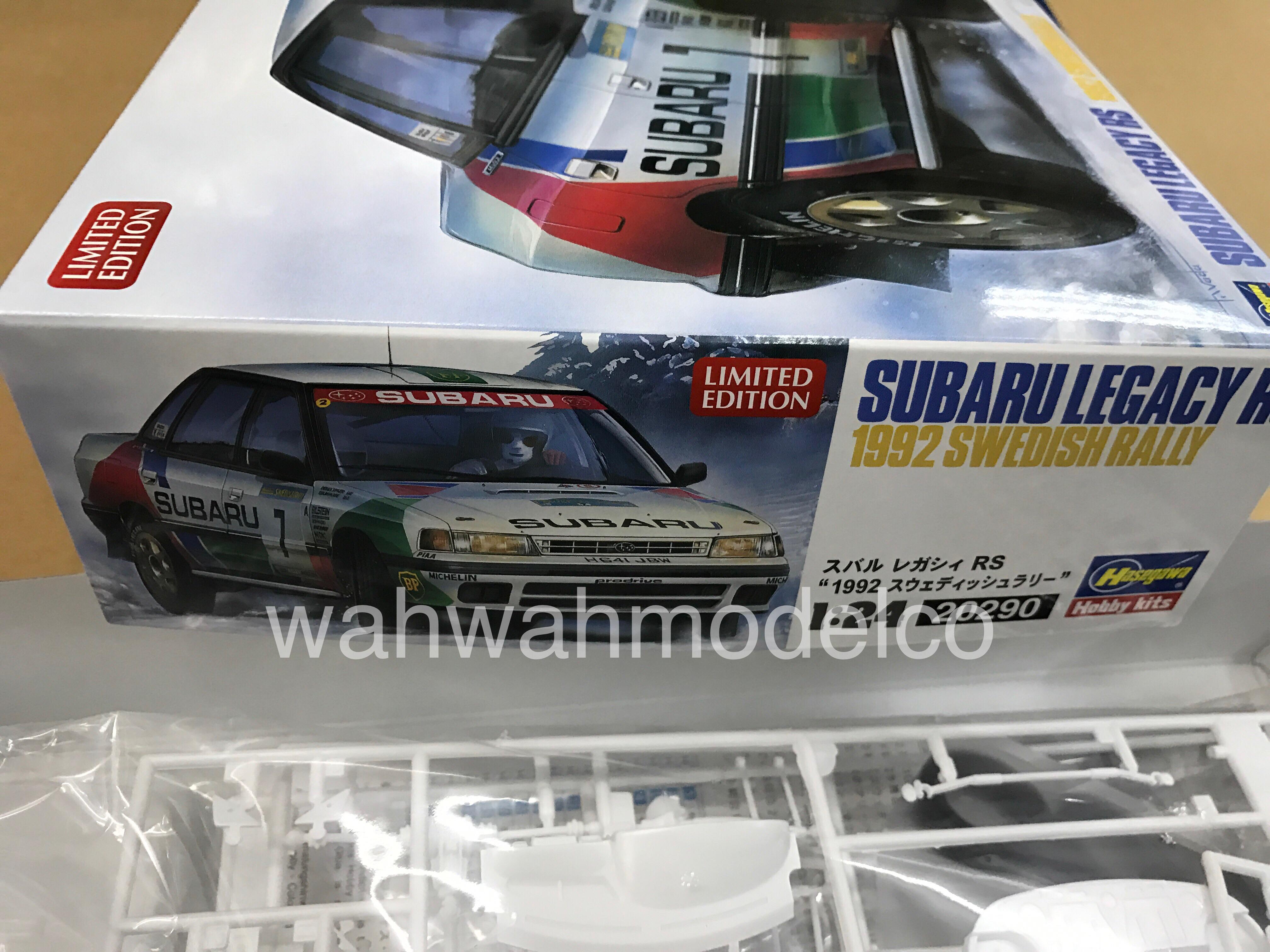 Hasegawa 20290 Subaru Legacy Rs 1992 Swedish Rally 1 24 Scale Kit