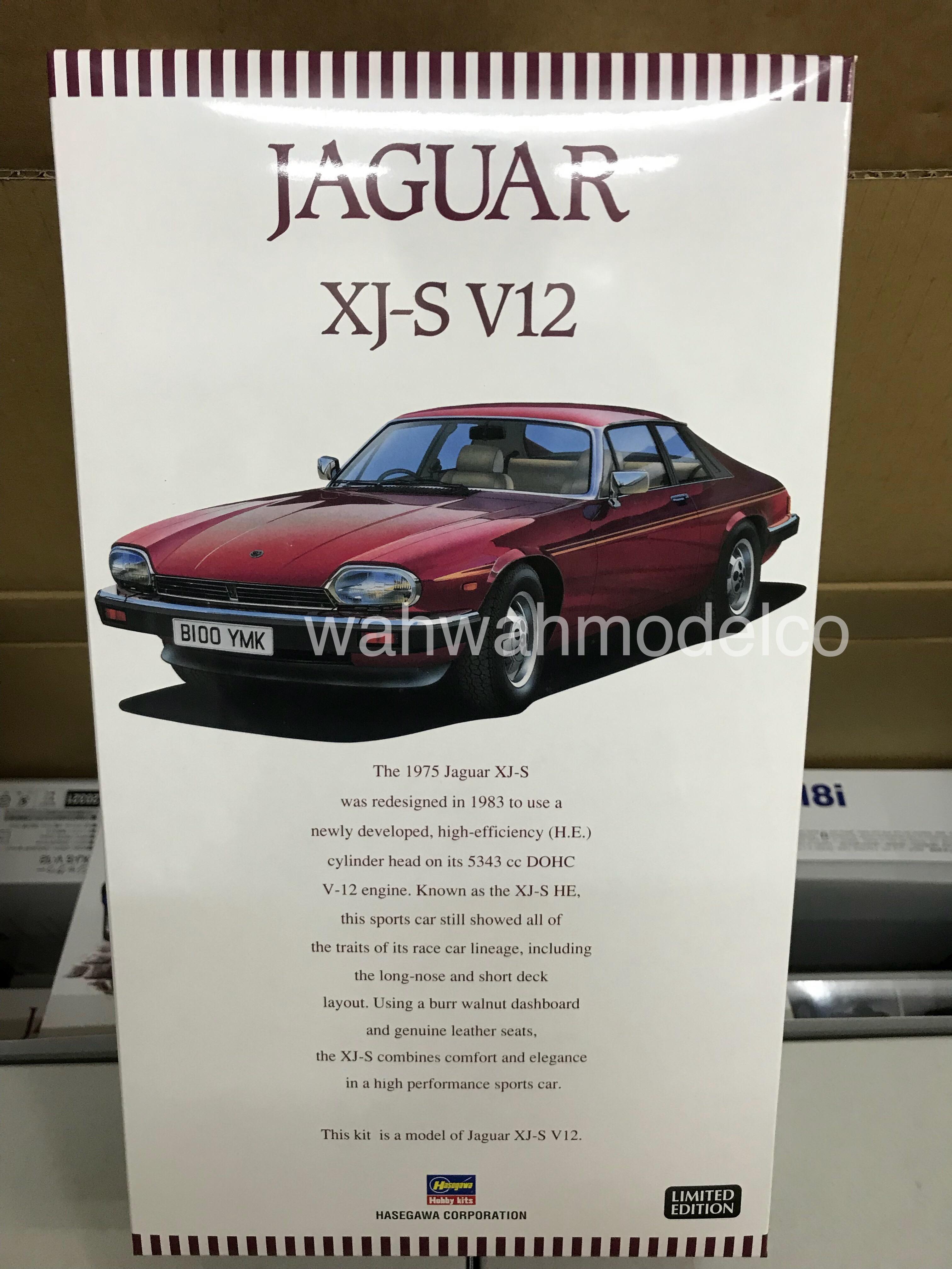 Hasegawa Jaguar XJ-S V12 20321 1/24 Scale Plastic Model Kit